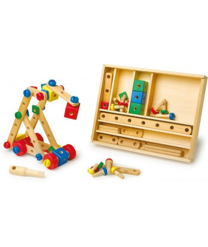 Set de constructie din lemn
