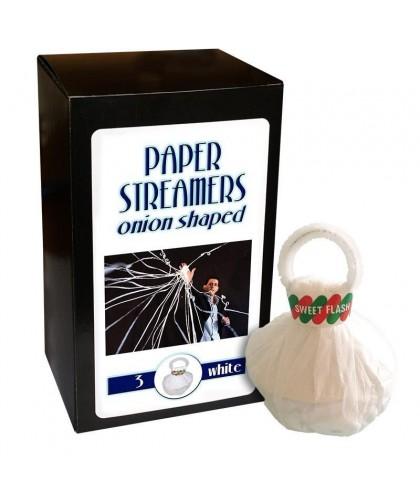Paper Streamers Alb - 3 bucati