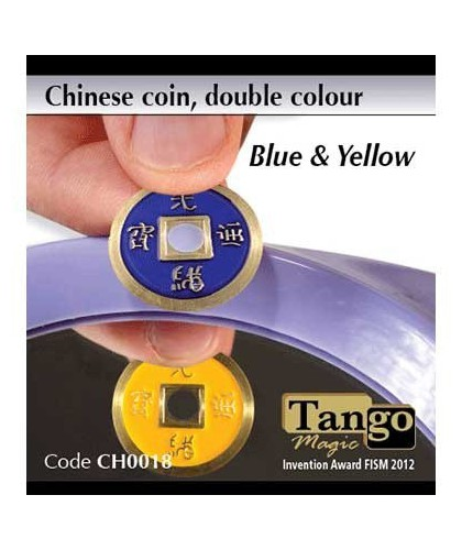 Chinese Coin Blue & Yellow...