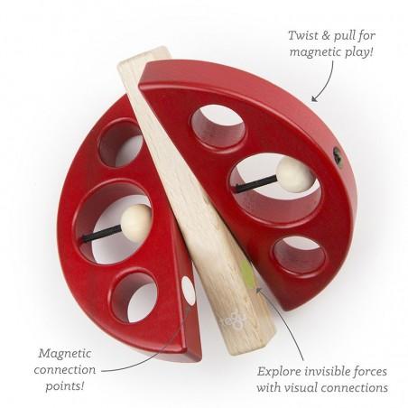 Zip Zap, jucarie din lemn magnetic Tegu