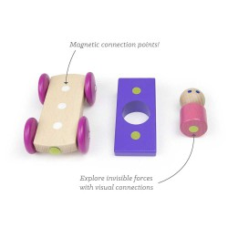 Marbles, jucarie din lemn magnetic Tegu