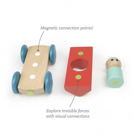 Beans & Tumtum, jucarie din lemn magnetic Tegu
