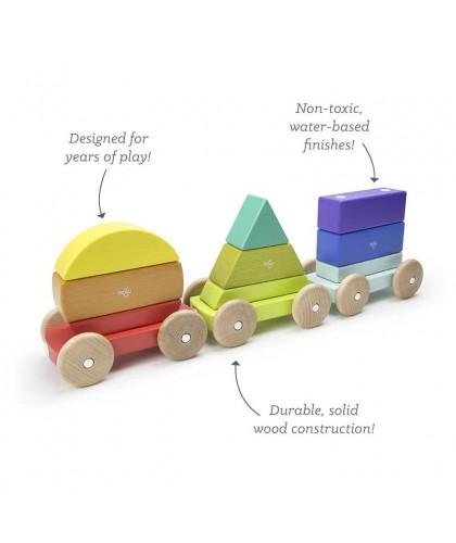 Trenulet Curcubeu din lemn...