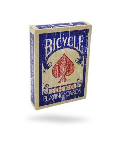 Bicycle Faded Rider Back Blue