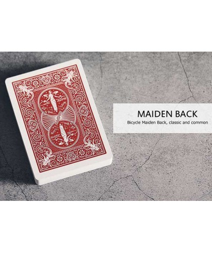 Bicycle Maiden Marked Deck Red