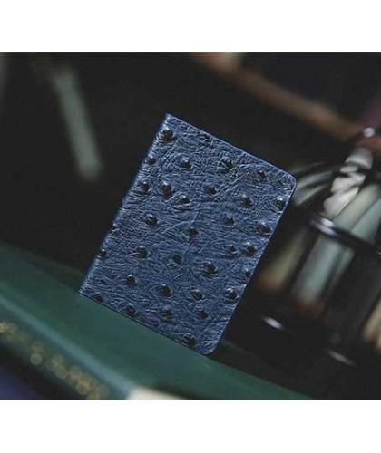 Ostrich Grain Leather Clip...
