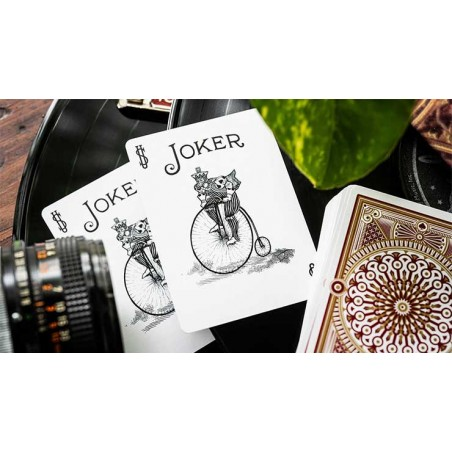 Wood Element White Playing Cards